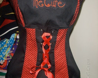 The Cure Robert Smith Goth Punk Unboned Corset