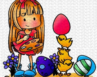 Image #35 - Easter Amy - Digital Stamps - Naz - Line art only - Black and White