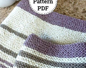 Knitting Pattern | Dishcloth Pattern | Knitted Dishcloth | Homemade Kitchen