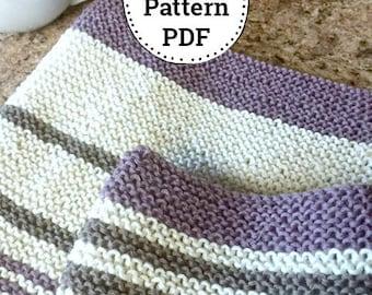 Knitting Pattern | Dishcloth Pattern | Knitted Dishcloth | Homemade Kitchen