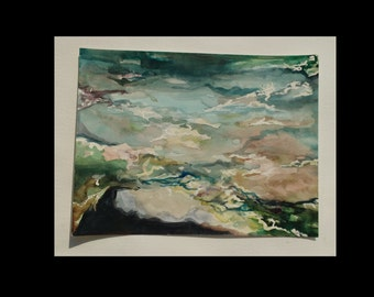 Original Watercolor Painting, Seascape
