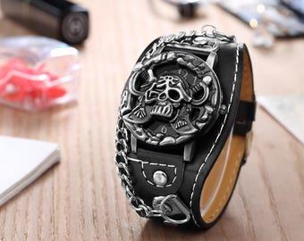 Adjustable skull, skull watch watch