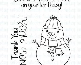 Your Next Stamp Snow Much FUN SNOWMAN Clear