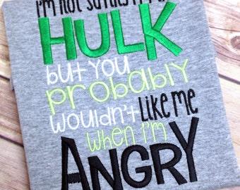Don't make him angry, Toddler shirt, I'm not saying, Boy super hero shirt, Toddler super hero shirt