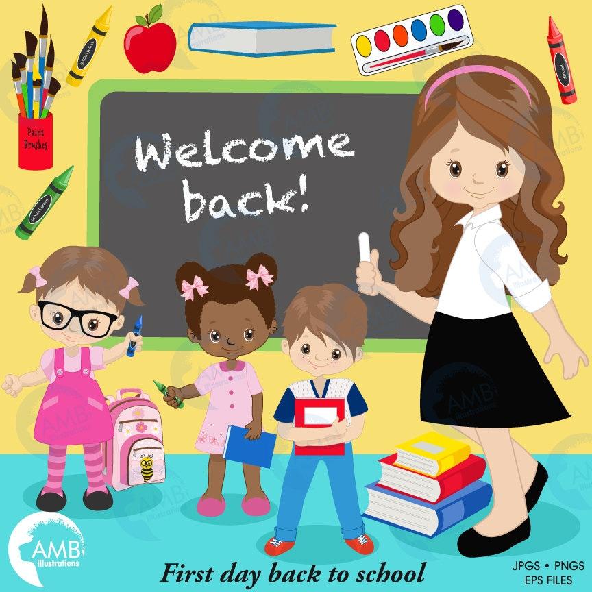 Back to school Clipart classroom clipart teacher clipart
