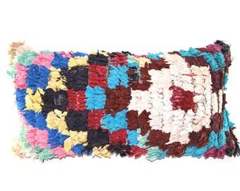 Colorful Boucherouite Pillow