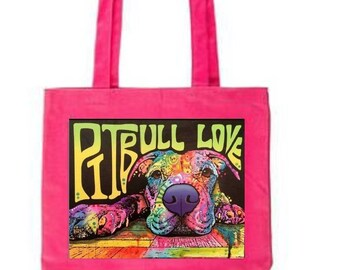 Pink Pit Bull Love Tote