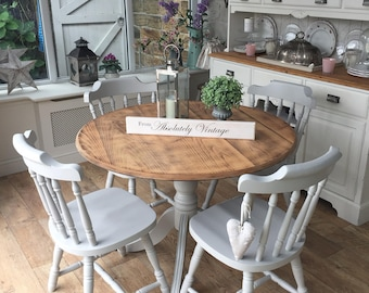 SORRY NOW SOLD ~A Rustic round Table and 4 Chairs
