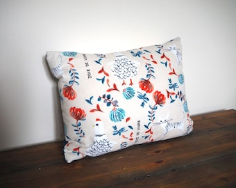 Beautiful Floral Cushion / Pillow. Decorative Pillow Cover 13x9 inch Cushion Cover, Home decor