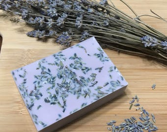 Lavender and Vanilla Goat's Milk Soap (4oz bar)