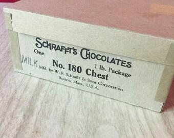 Antique Schrafft's Chocolates Cardboard Box
