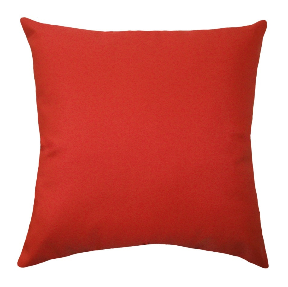 Solid Red Outdoor Pillow Cover Christmas Pillow Cover Red ~ Red Throw Pillows For Sofa
