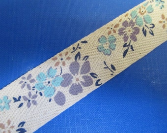"1 "" (25mm) wide Cotton Floral Super Ribbon Collection -DES -A"