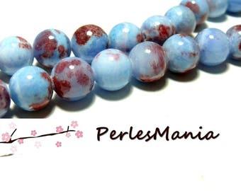 10 pearls tinted jade 12mm purple blue R73097
