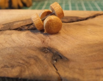 Handmade Vintage Faux Ear Plugs Coconut Wood