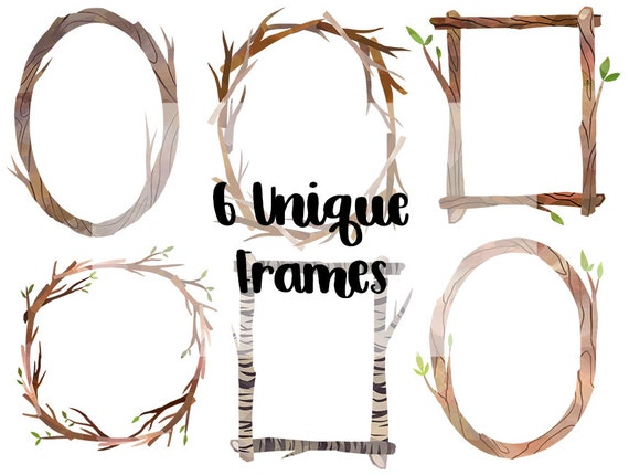 Watercolor Wooden Frames And Borders Clipart