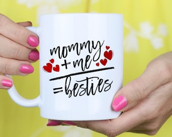 Personalized Mom Gift - Bestie Mommy Christmas Mug - Christmas Gift - Gift- Birthday Mug Gift - Coffee Mug Gift Tea Mug Gift