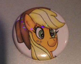 Applejack Pin-Back Button