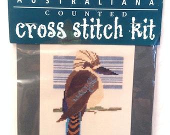 Australiana Counted Cross Stitch Kit Kookaburra Bird