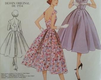 Vogue 2960 - Vintage Model - Original 1954 Design - Misse's Dress - sizes 12-14-16-18