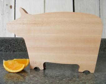 A Small Cow EdgeGrain Wood Cutting Board Serving Board Maple