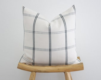 Black and Neutral Farmhouse Pillow Cover, Pillow Cover,Accent Pillow,Throw Pillow
