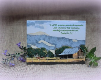 Photo Card with Hand Painted Accents, Landscape Photo Card, Note Card, Blank Greeting Card, Scripture Card