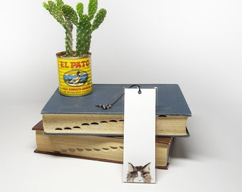Maine Coon Cat Bookmark, Watercolor Bookmark, Beaded Bookmark, Literary Bookmark, Maine Coon Cat Watercolor