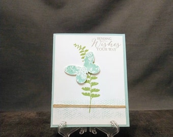 Handmade Card - Sending Wishes Butterfly Card