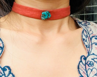 Necklace/Bracelet/ Tibetandesign/ Beautiful/ Handmade/ Choker/ EcoFriendly/ Turquoise/Soft/ Rusty/ Orange/ Simple/perfect Gifts for Anyone.