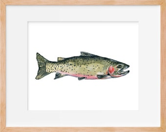 Cutthroat Trout,Trout Print, Hunting and Fishing, Fly Fishing, Fish Art, Fishing Decor, Trout Print, Fishing Wall Art
