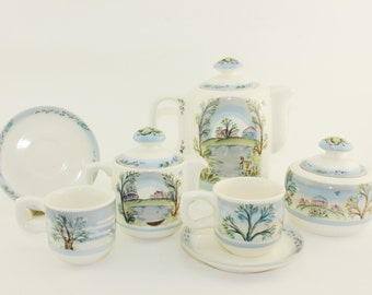 Tea set Spring drops, 10 subjects. Bright, high-quality, gift set, handmade for you.