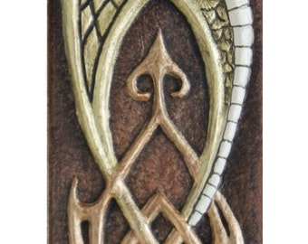 Guardian - The Protector Dragon - Cast Paper - Fantasy art - Celtic Dragon - Celtic Knot - Irish art -  Draco - Wyrm