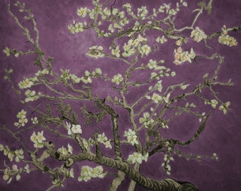 Almond Branches in Bloom (Purple), San Remy, by Vincent Van Gogh