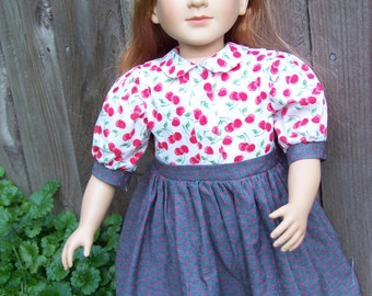 SALE! 20% OFF Cherry Blouse and Skirt School Dress for 23 inch My Twinn dolls- One piece.