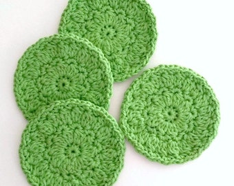 Coasters or Face Scrubbies Green