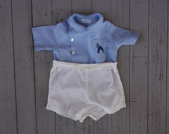 50's Baby Top and Bottoms Saks Fifth Avenue Boys Enfant-6mo.