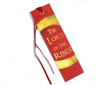 Lord of the Rings Bookmark, JRR Tolkien Bookmark, Middle Earth Bookmark, LOTR
