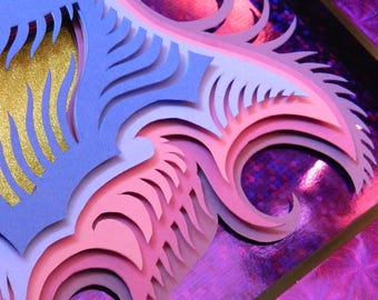 3D Paper Sculpture Tango Purple