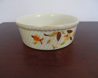 "Autumn Leaf China 7"" Round 3 Pint French Baker"
