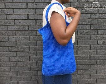 Blue Crochet Tote