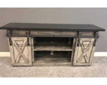 TV Console/TV Stand/Entertainment Center/Barn Door/Custom/media Stand