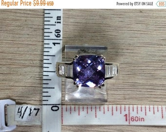 10%OFF3DAYSALE Vintage Silver Toned Purple Cz Ring Size 8 Used