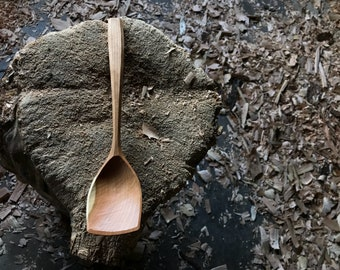 """12"""" wooden ladle, serving ladle, wooden spoon, hand carved wooden spoon"""
