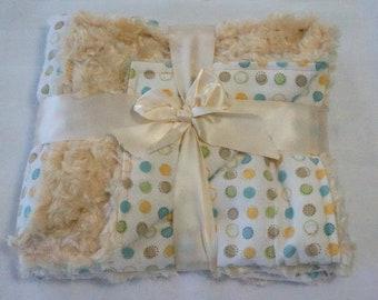 Beige Dots baby blanket