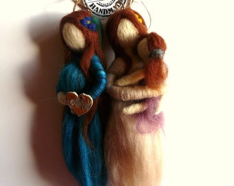 Needle felted ornaments/ Mother-to-be/ Mother with daughter/ Felting/ Hanging ornaments/ Home decor/Keepsake