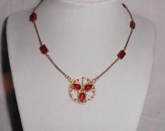 Roman Garnet & Vermeil Necklace 2nd Century AD
