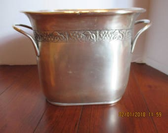 Pottery Barn  Silver finish Hotel Silver Double Wine Cooler Champagne bucket