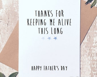 Funny fathers day card, father's day card for dad, funny greeting card, card for him, card for dad, funny card for dad, funny card