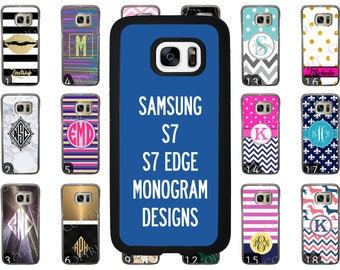 Choose from 70 Monogram / Personalized Designs Samsung Galaxy S7 Phone Case. Samsung Galaxy S7 Edge Phone Case. Rubber Case. Clear Plastic